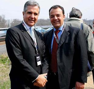 Julio Lopes com Cabral numa viagem à Europa