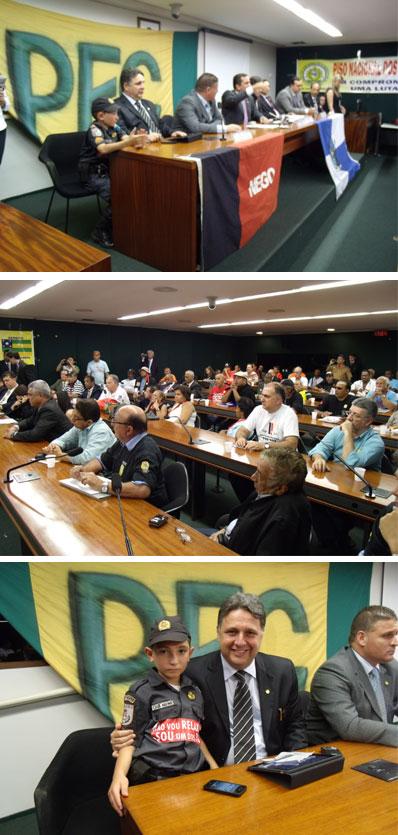 Garotinho na reunião dos deputados com os líderes do movimento da PEC 300