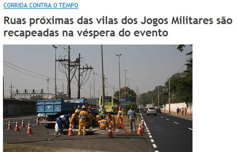 Reprodução de O Globo