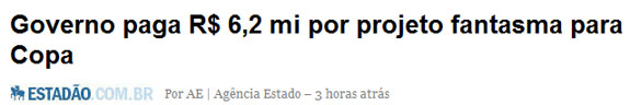 Reprodução do jornal Estado de S.Paulo