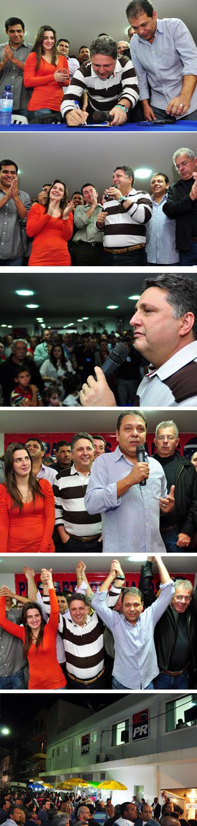 Garotinho assina a filiação do ex-prefeito Betinho Dauaire ao PR, numa grande festa em São João da Barra (Fotos de César Ferreira)