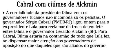 Reprodução da coluna Panorama Político, de O Globo