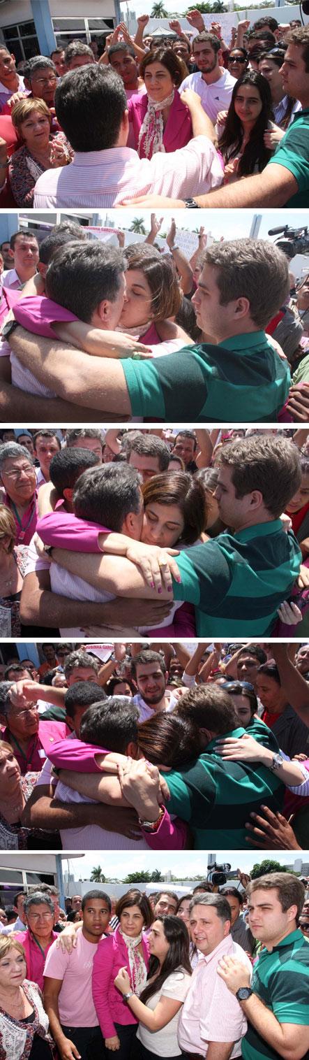O emocionante reencontro da família Garotinho (Fotos de Rogério Azevedo)
