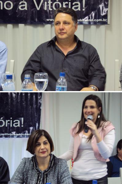 Garotinho, Rosinha e Clarissa no encontro do PR