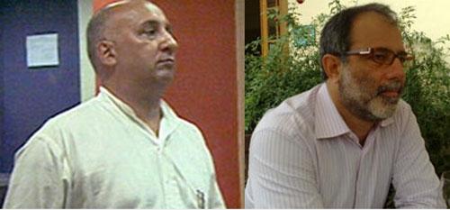 O delegado Alexandre Neto e Marcelo Sereno (PT), secretários de Maricá com ligações com a Rocinha