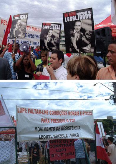 Pedetistas protestam contra Lupi (Fotos de André Couto)