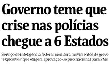 Reprodução da capa da Folha de S.Paulo
