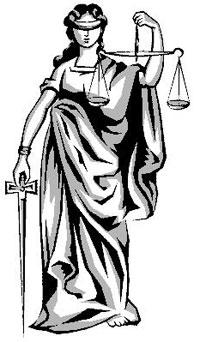A deusa romana Iustitia, símbolo da Justiça, imparcial e igual para todos