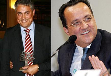 Policarpo Júnior, editor da Veja e Carlinhos Cachoeira: mais de  200 telefonemas interceptados pela Polícia Federal