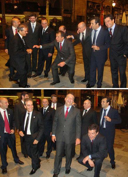 Fotos já publicadas no blog, de Cabral e Cavendish ensaiando passos de dança na chegada à festa de arromba. Abaixo tem fotos inéditas da festa