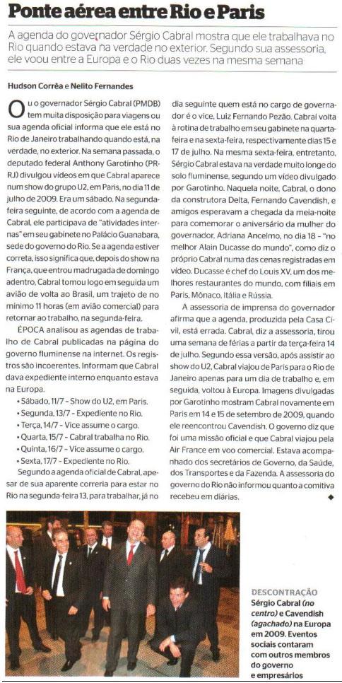 Reprodução da revista Época