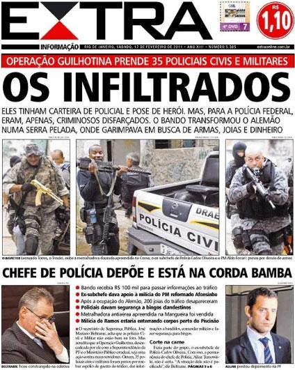 Capa do Extra sobre a Operação Guilhotina