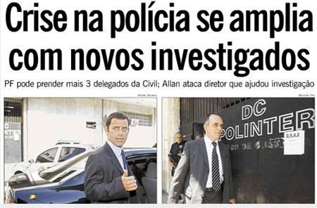 Reprodução da capa do Globo