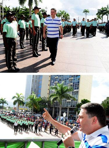 Garotinho, em 2011, na formatura dos novos guardas-mirins de Campos