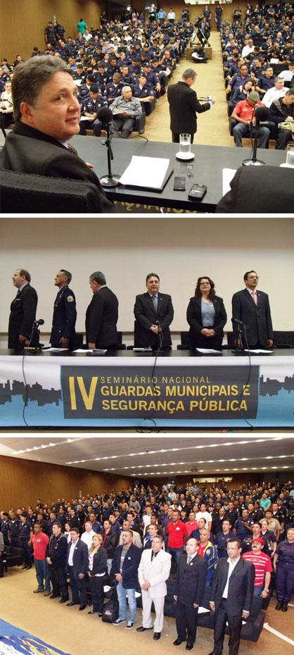 Garotinho preside o seminário com a participação de guardas municipais de todo o Brasil (Fotos de André Couto)