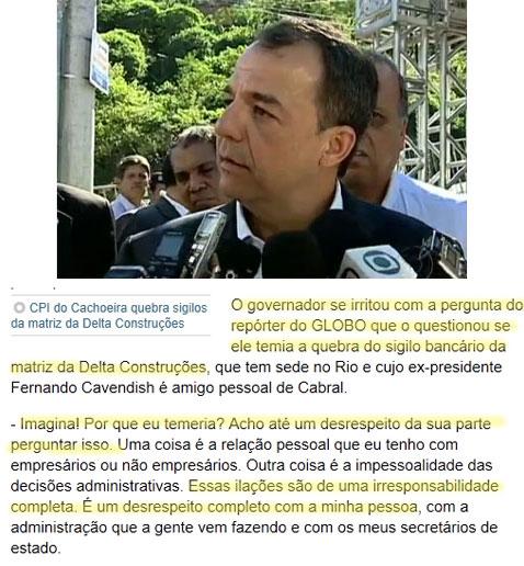 Imagem do RJ TV; abaixo reprodução do Globo online
