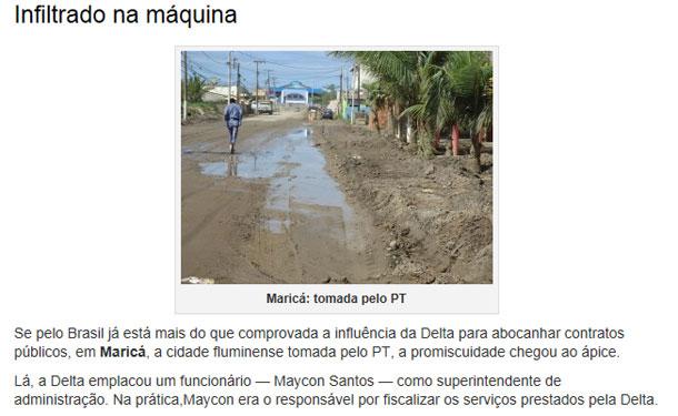 Funcionário da Delta foi nomeado na prefeitura de Maricá para fiscalizar as obras da própria empreiteira