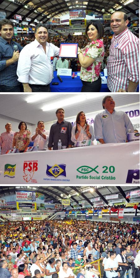 Uma festa democrática para lançar a chapa Rosinha Garotinho - Dr. Chicão à reelieção (Fotos de Gerson Gomes)