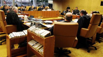 Sessão do julgamento do Mensalão