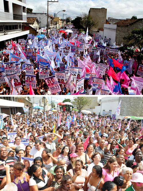 Comício da Verdade reuniu 20 mil pessoas no maior ato público da campanha eleitoral em todo o estado até agora, superando em muito a manifestação de Marcelo Freixo que colocou 3 mil na Cinelândia