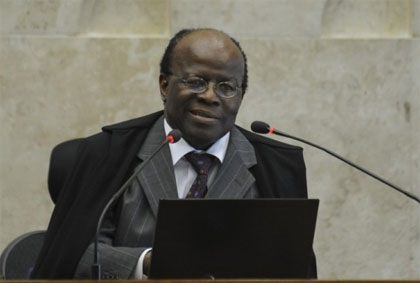 Ministro Joaquim Barbosa, primeiro negro a presidir o Supremo Tribunal Federal