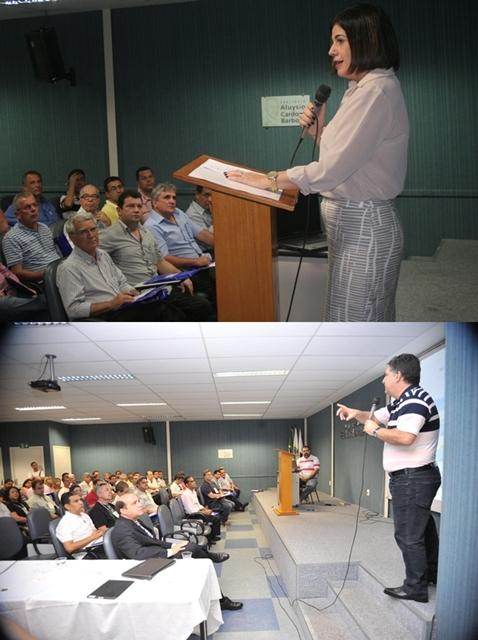Rosinha e Garotinho ministraram palestras para integrantes do governo.