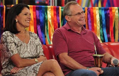 Beltrame com a esposa no programa Esquenta, da TV Globo