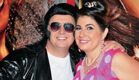 Garotinho e Rosinha na festa relembrando os anos 60