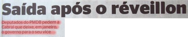 Reprodução do jornal Extra