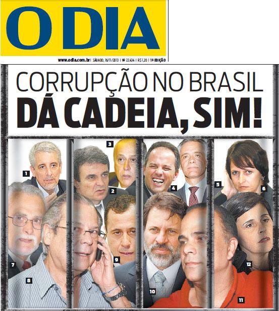 Capa do jornal O Dia