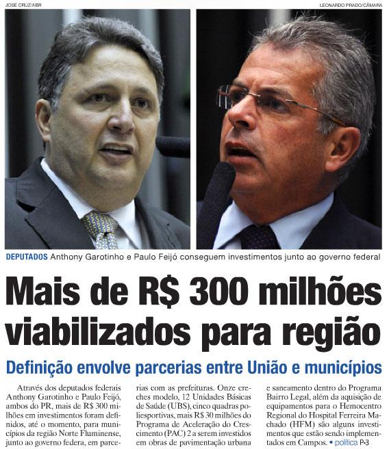 Reprodução do jornal O Diário, de Campos dos Goytacazes