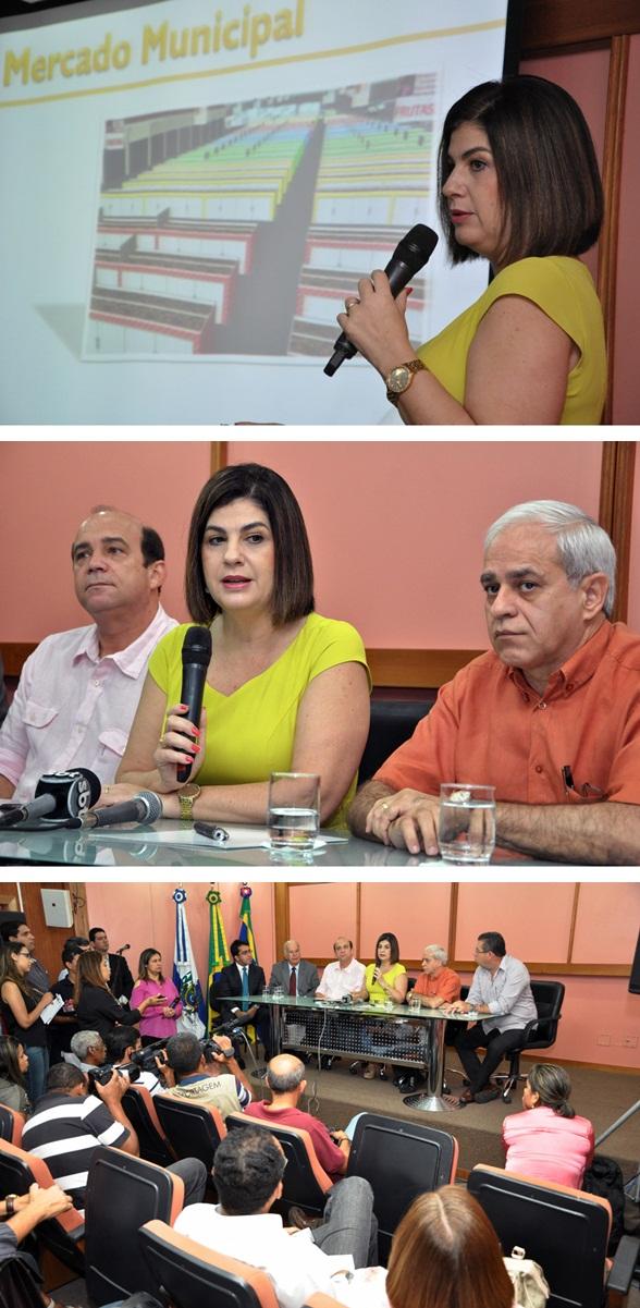 Rosinha anunciou as obras na manhã desta sexta na sede da Prefeitura (Fotos Gerson Gomes)