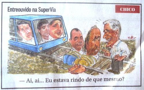 Charge de Chico Caruso publicada no Globo