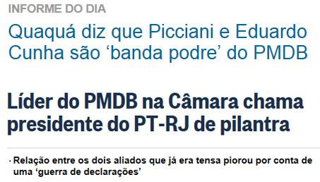 Reproduções de O Dia online e do Globo online
