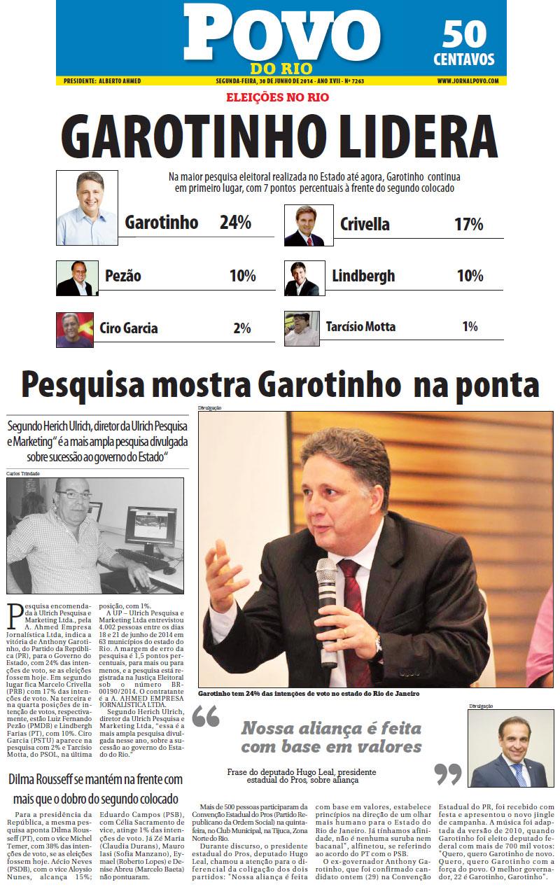 Reprodução do jornal Povo do Rio (CLIQUE NA IMAGEM PARA AMPLIAR)