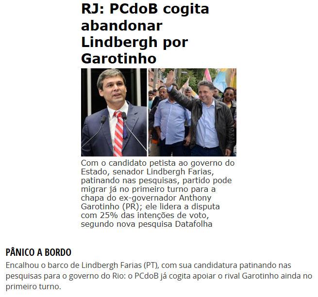 Reproduções do Brasil 247 e da coluna de Cláudio Humberto