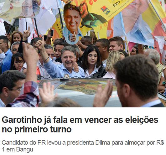 Foto de Inacio Teixeira; abaixo manchete de O Dia online