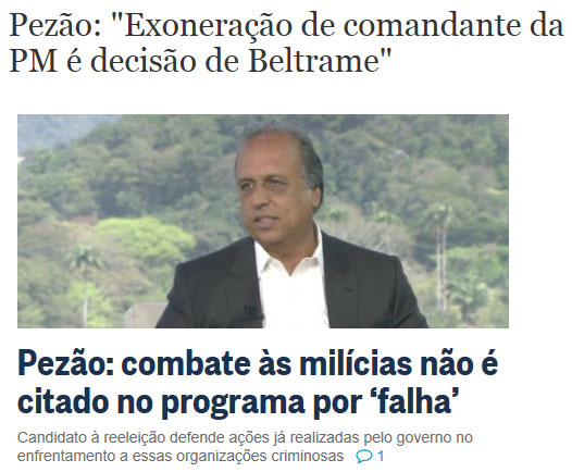 Reprodução do Valor Econômico e Globo online