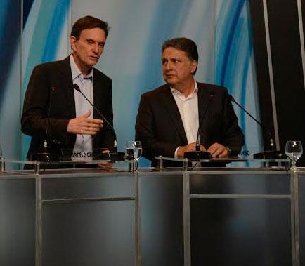 Garotinho e Crivella no debate da Record