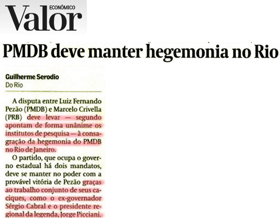 Reprodução do jornal Valor Econômico