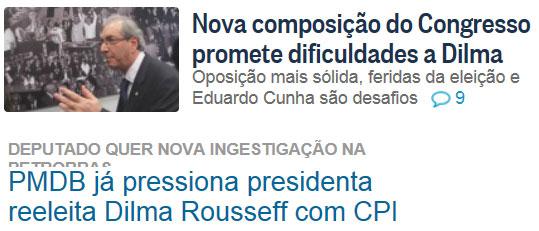 Reproduções do Globo online e de O Dia online