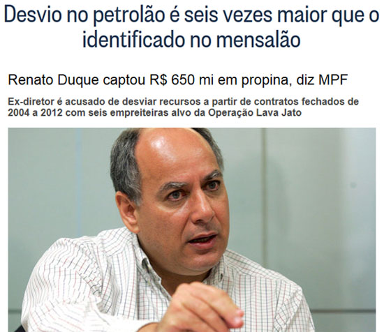 Manchetes do Globo online e da Veja online