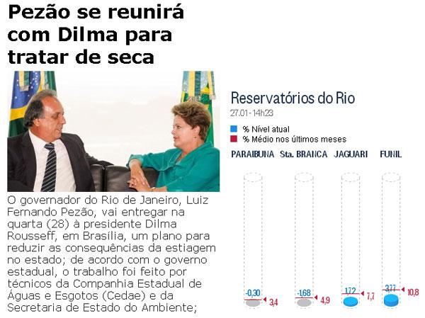 Reproduções do Brasil 247 e do Globo online
