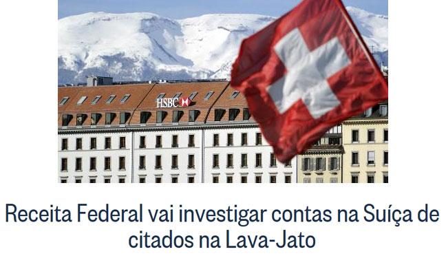 HSBC na Suíça; reprodução do Globo online