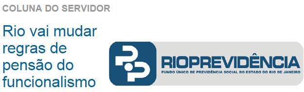 Reprodução de O Dia online; ao lado logomarca do Rioprevidência