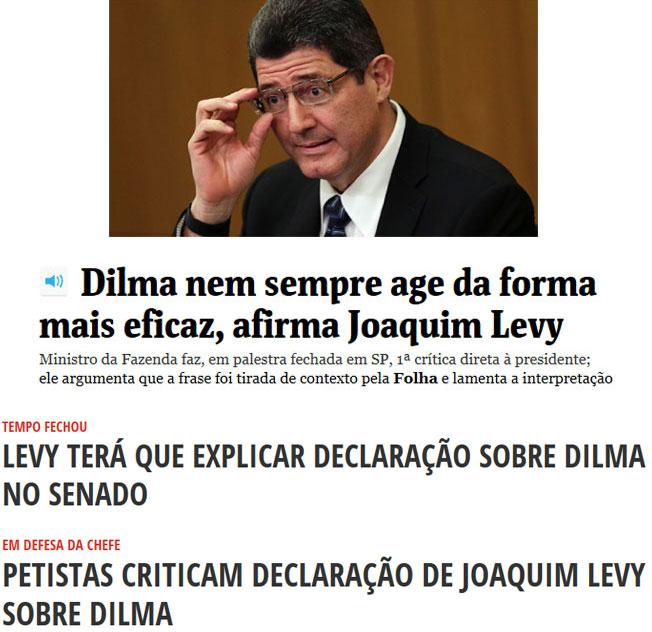 Reproduções da Folha de S. Paulo e do Diário do Poder