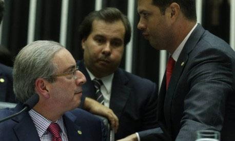 O desânimo de Eduardo Cunha, Rodrigo Maia (relator) e Leonardo Picciani com duas derrota na reforma política