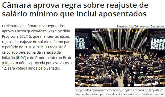 Reprodução da Agência Câmara