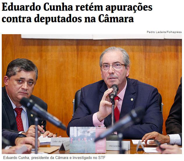 Reprodução da Folha de S. Paulo online