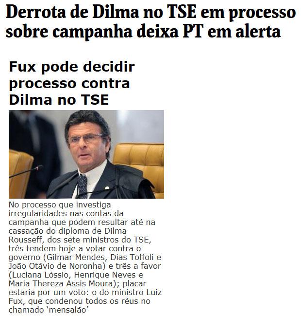 Reproduções da Folha de S. Paulo e do Brasil 247